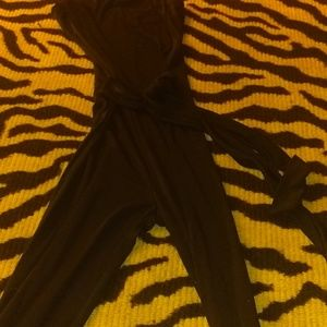 Black tube pants jumper
